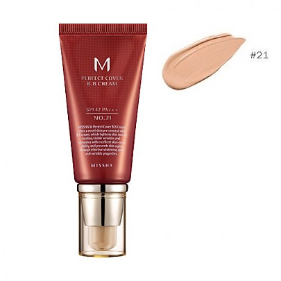[Missha] M Perfect Covering BB Cream SPF42 PA+++,No.21 Light Beige (Blemish coverage and Power Long Lasting) 50ml