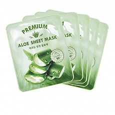 [MISSHA] Premium Aloe Sheet Mask (5 pcs)